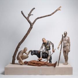 "Richard Stipl - ""Figures with tree"""